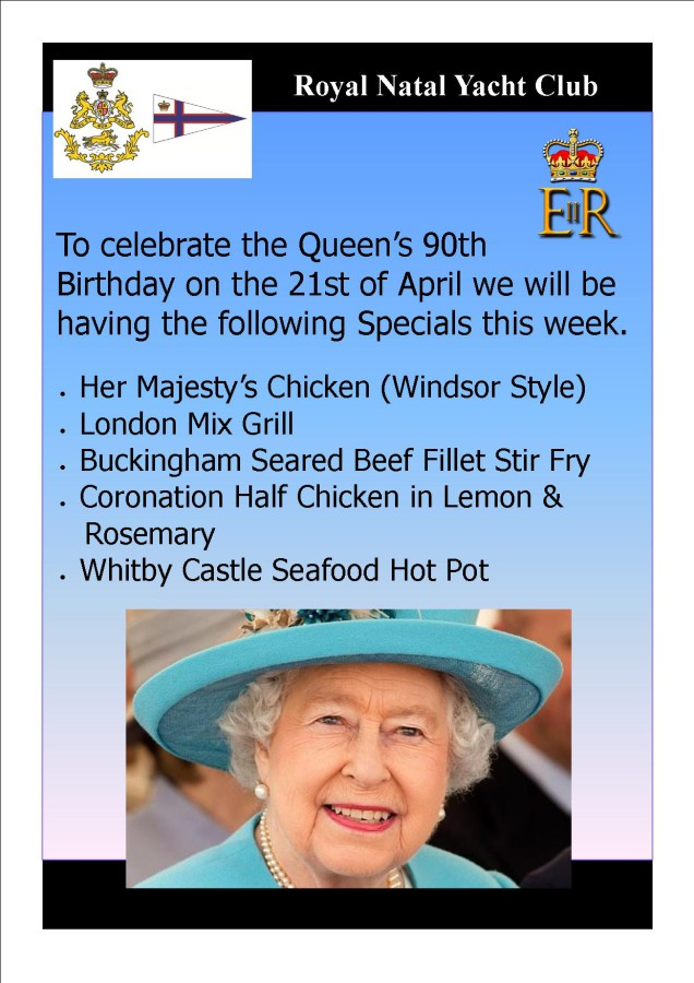 Queens Birthday Specials - 21 April 2016